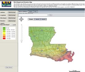 Easiest Wind Speed Maps in the Gulf Louisiana